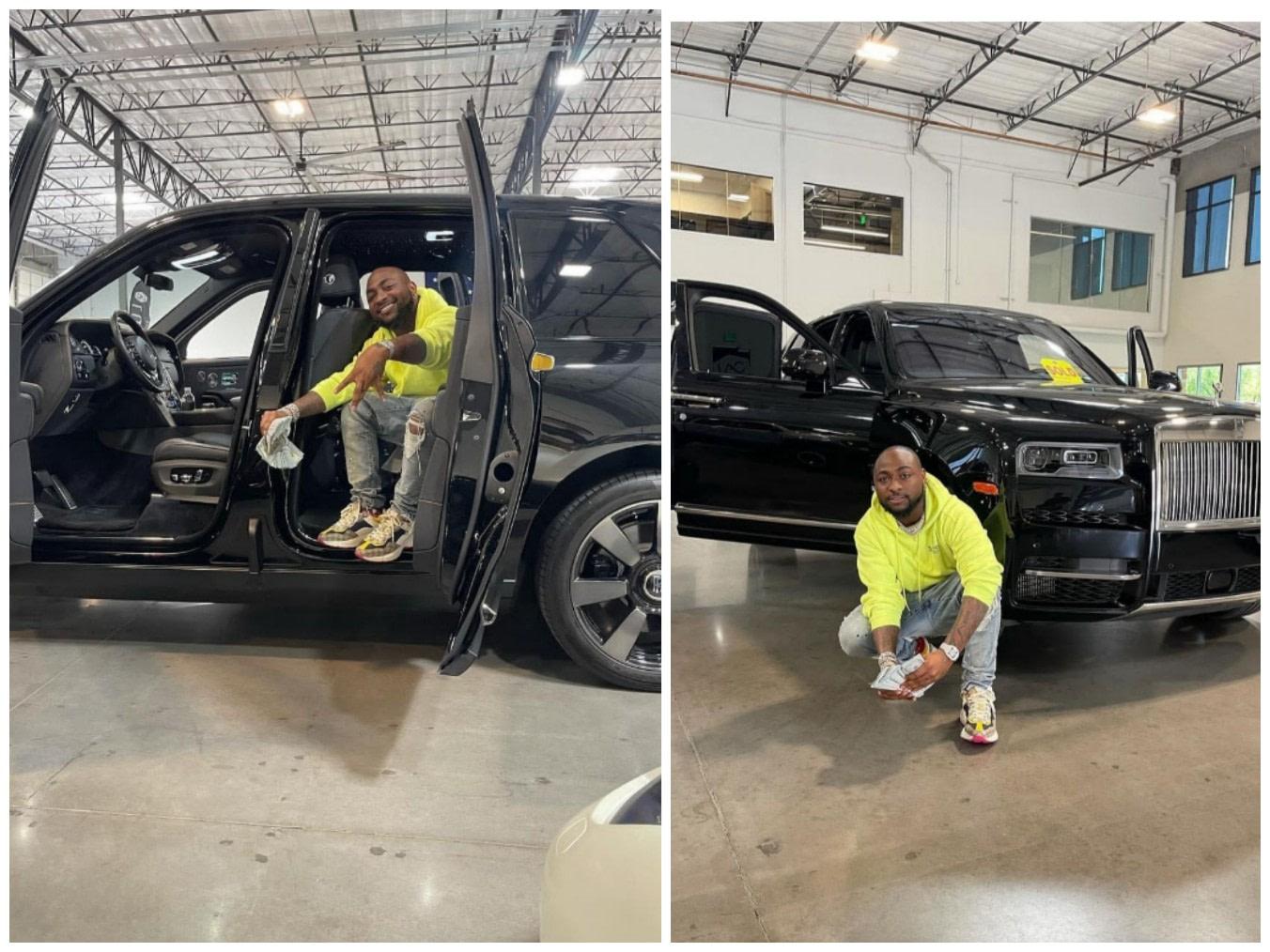 Davido Buys 2021 Rolls Royce Cullinan Worth $500 000.